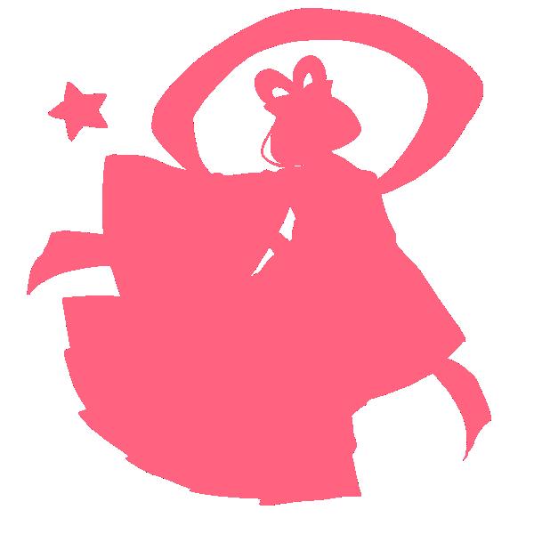 織姫のシルエット 全身のイラスト