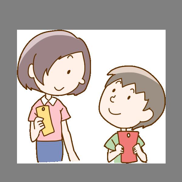 ママの願いとぼくの願いのイラスト