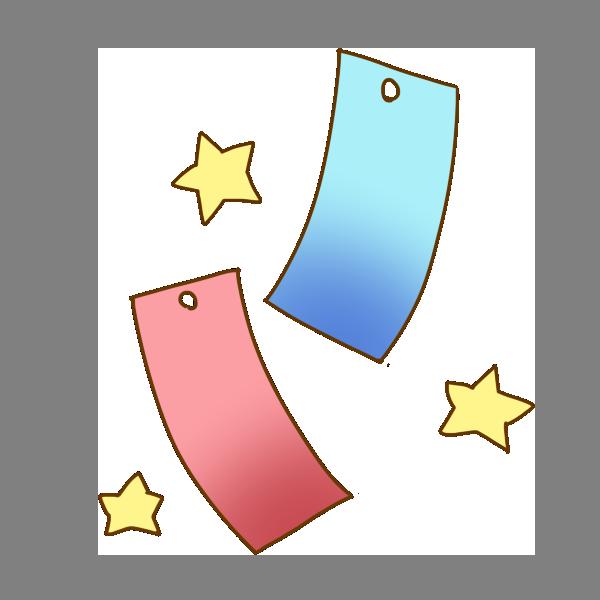 短冊と星のイラスト