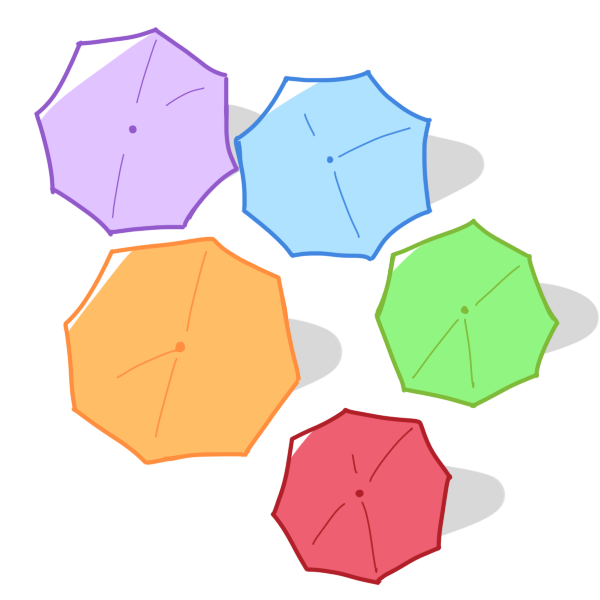 色々な傘のイラスト