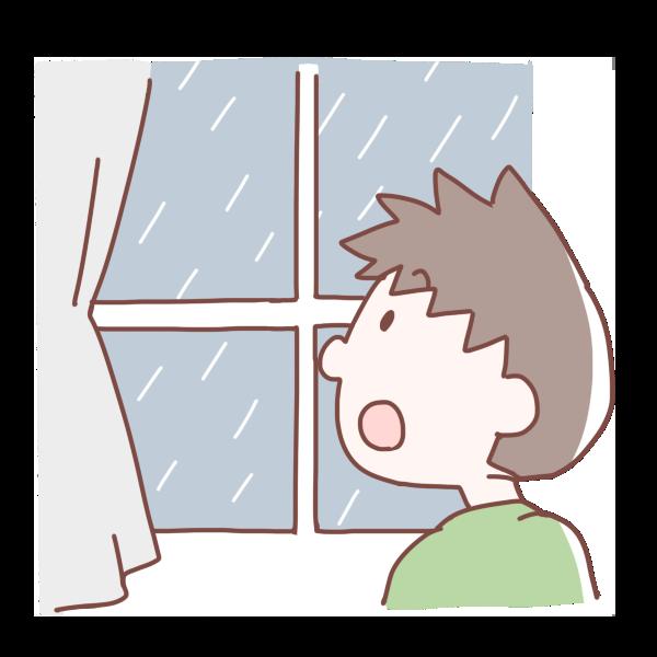 雨が降ってきたのイラスト