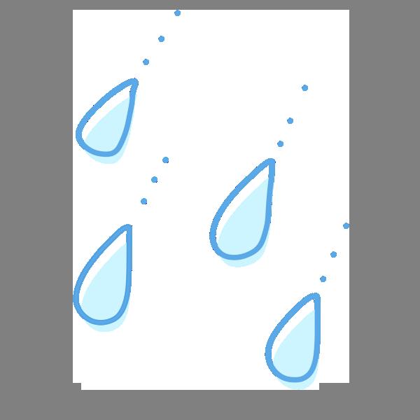 雨の雫のイラスト