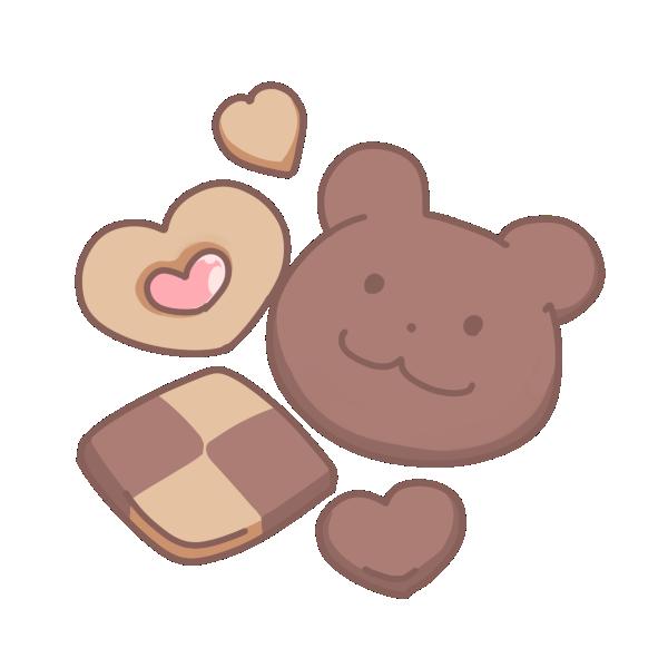 クマさんクッキーのイラスト かわいいフリー素材が無料のイラストレイン
