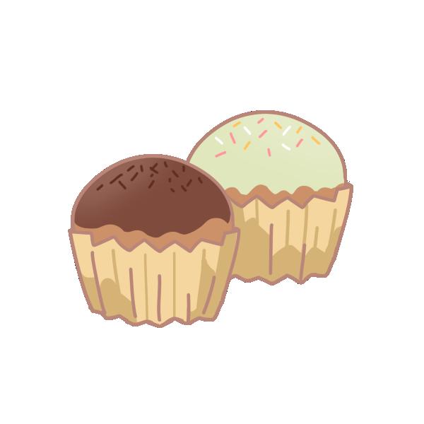 2種類のカップケーキのイラスト