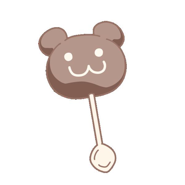 クマのチョコレートのイラスト