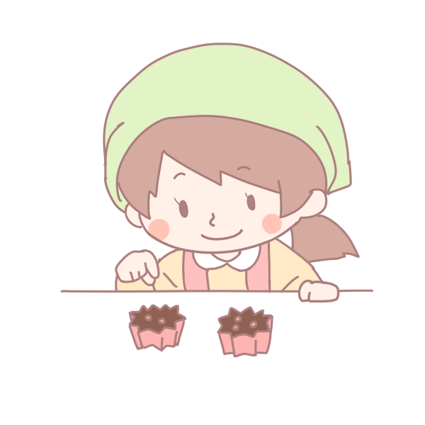 お菓子を作る女の子のイラスト