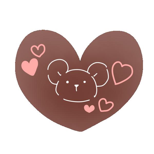 絵が描かれたチョコレートのイラスト