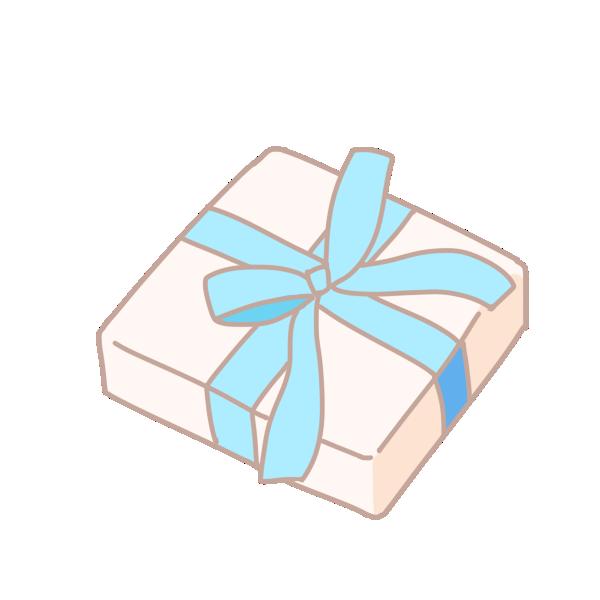 四角い箱のプレゼントのイラスト