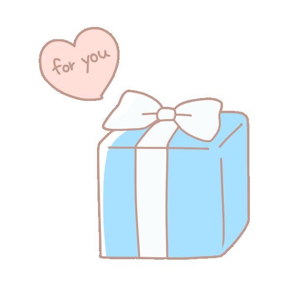 四角い箱のプレゼント2のイラスト