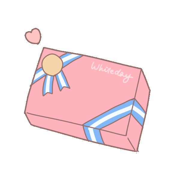 四角い箱のプレゼント3のイラスト