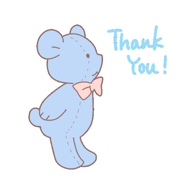 クマのぬいぐるみ「ThankYou!」のイラスト