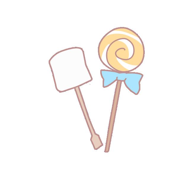 マシュマロとキャンディのイラスト