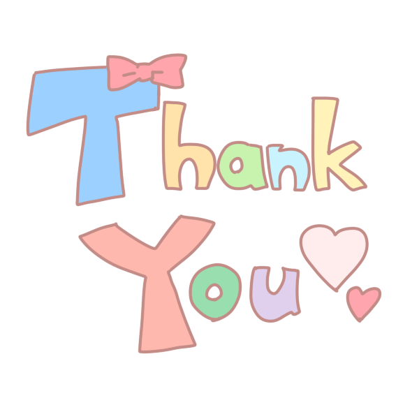 「Thank You」文字のイラスト