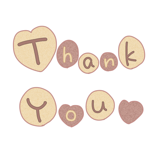 「Thank You」文字クッキーのイラスト
