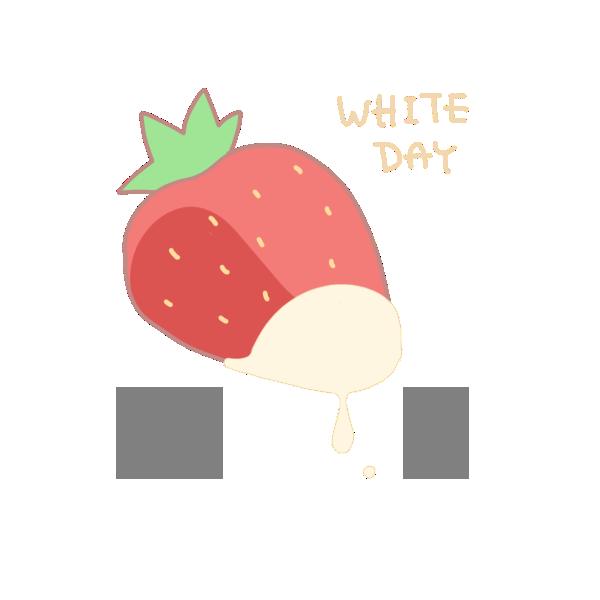 ホワイトチョコかけいちごのイラスト かわいいフリー素材が無料のイラストレイン
