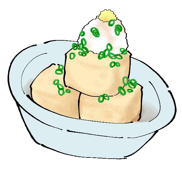 揚げ出し豆腐のイラスト