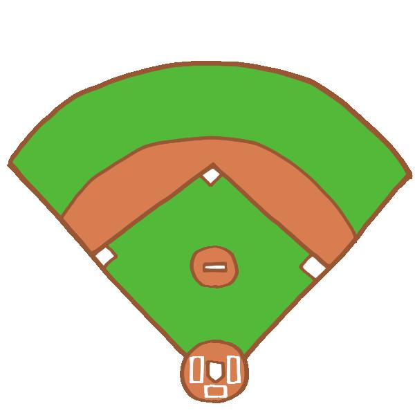 野球のグラウンドのイラスト