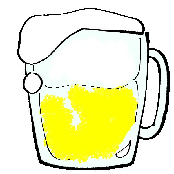 大ジョッキビールのイラスト