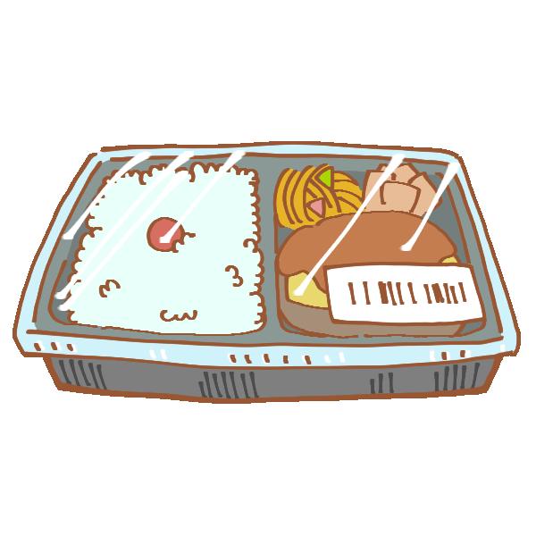 コンビニのお弁当のイラスト
