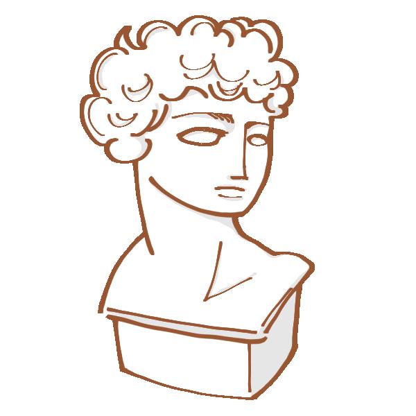 石膏像のイラスト