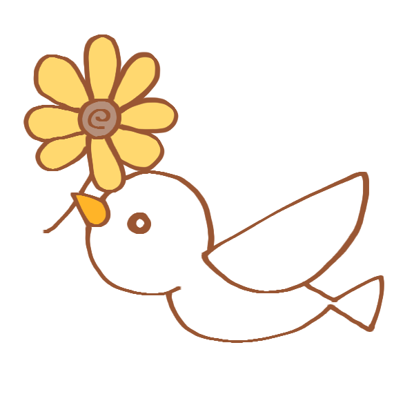 白い鳥のイラスト