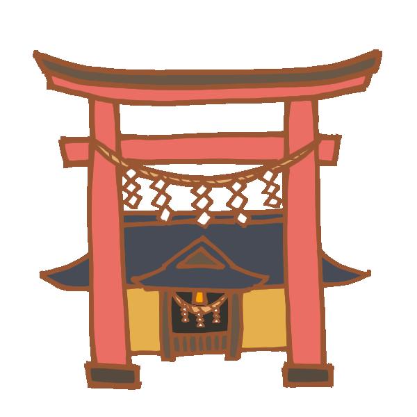 神社のイラスト