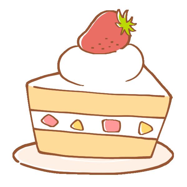 いちごのショートケーキのイラスト
