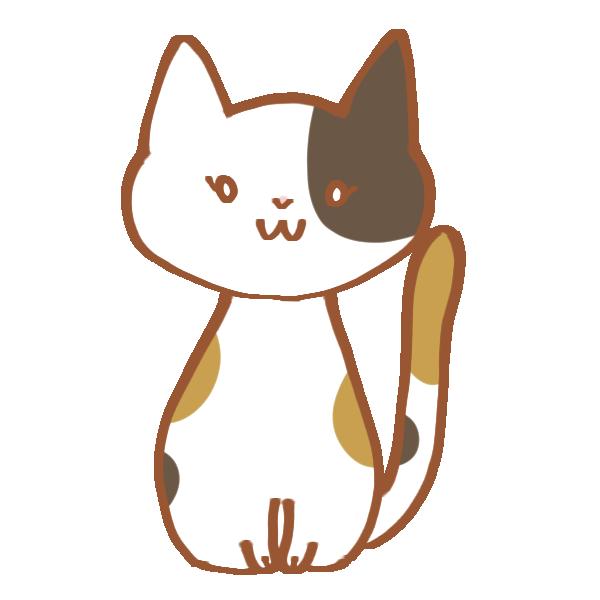 ぶち猫のイラスト