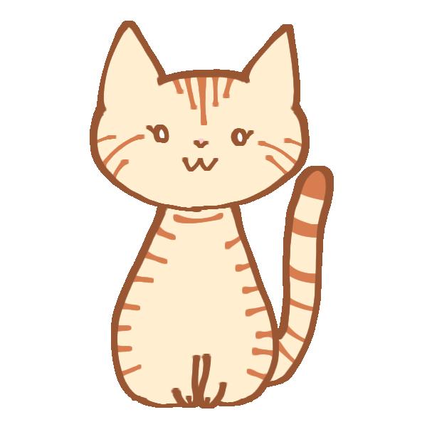 トラ猫のイラスト