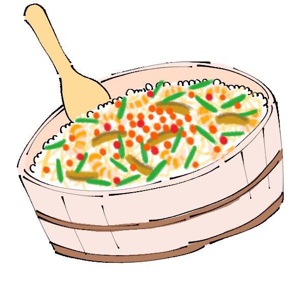 お祝いちらし寿司のイラスト