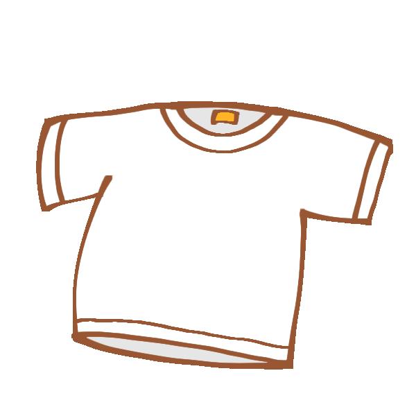 真っ白なTシャツのイラスト