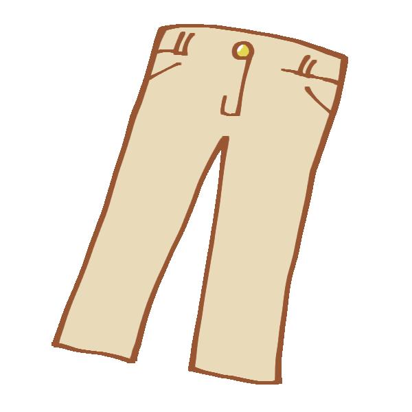 ベージュのチノパンのイラスト
