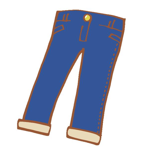 紺色のジーパンのイラスト