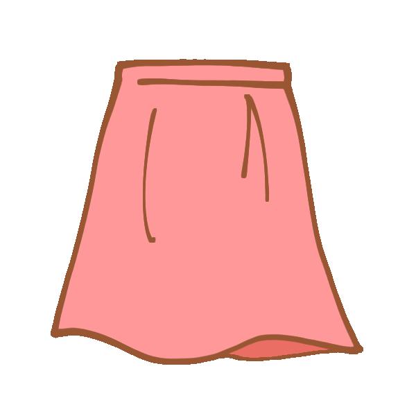 ピンク色のスカートのイラスト