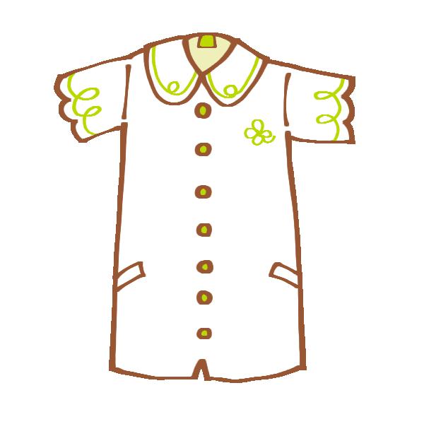 半袖のシャツワンピースのイラスト