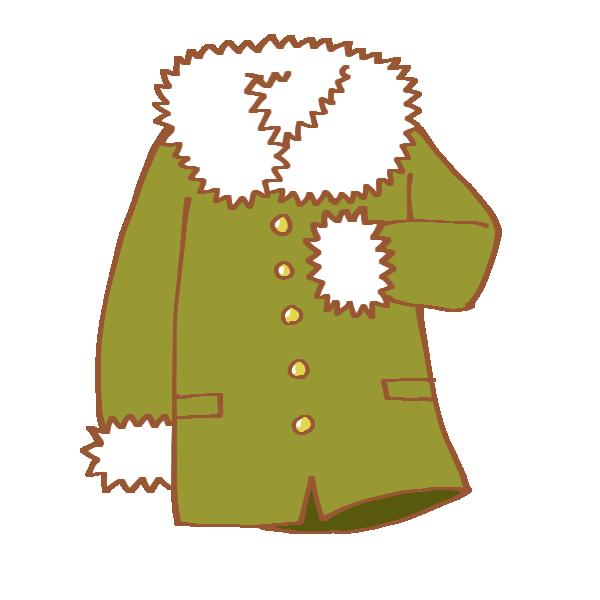 カーキ色のコートのイラスト