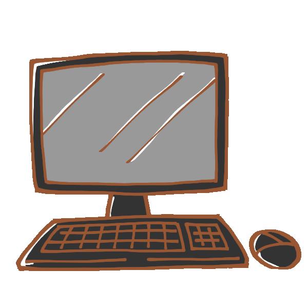 デスクトップ型パソコンのイラスト