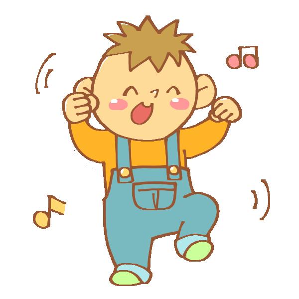 ダンスをする男の子のイラスト