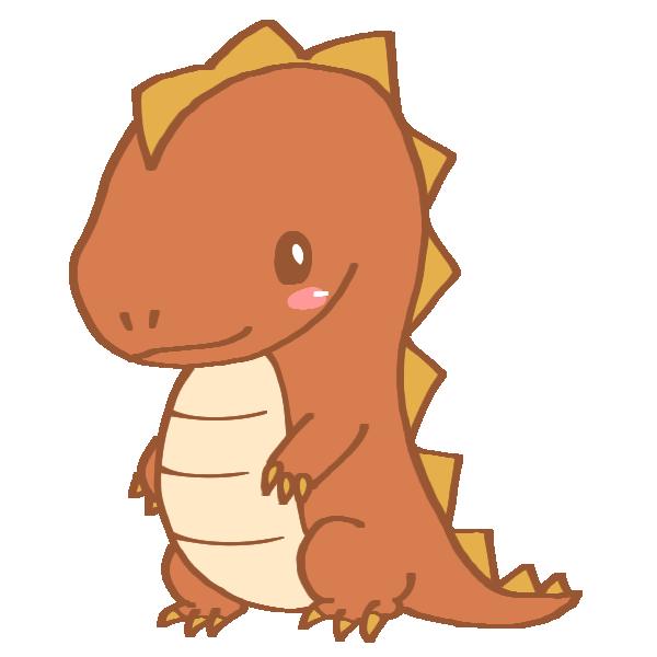 茶色い恐竜のイラスト