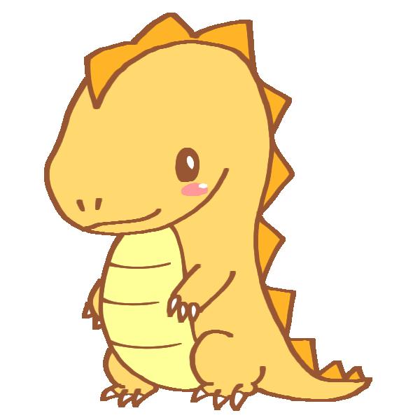 黄色い恐竜のイラスト