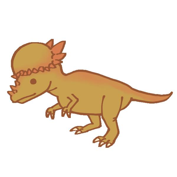 パキケファロサウルスのイラスト