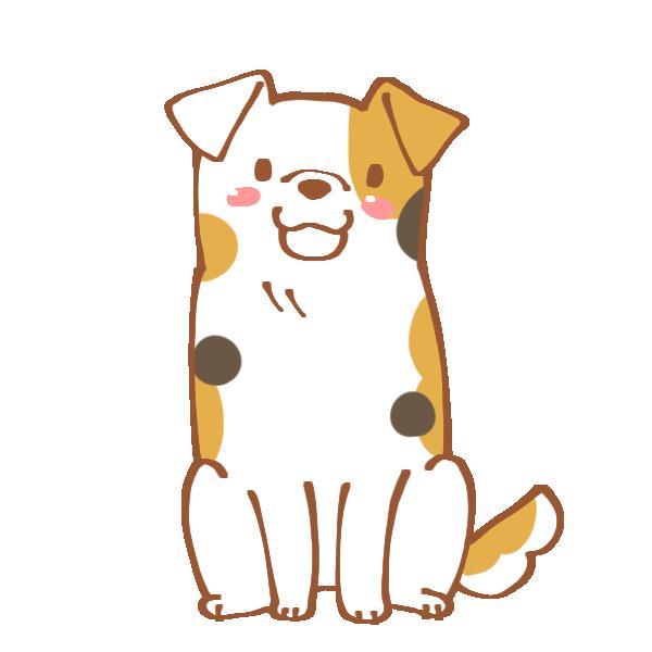 ぶち犬のイラスト