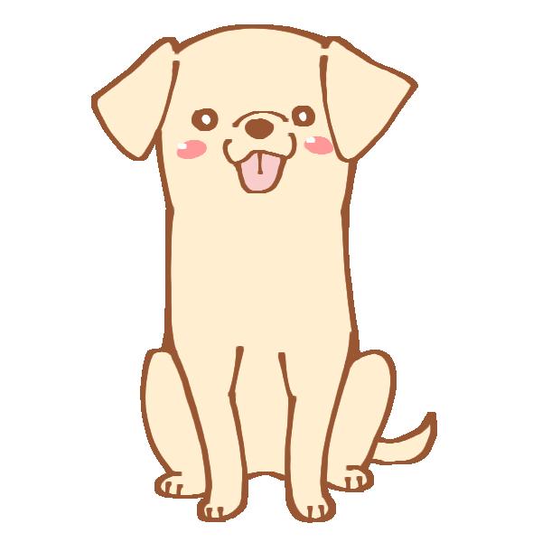 おすわりをする犬のイラスト
