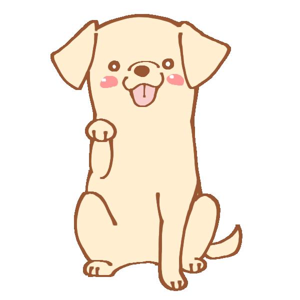おてをする犬のイラスト