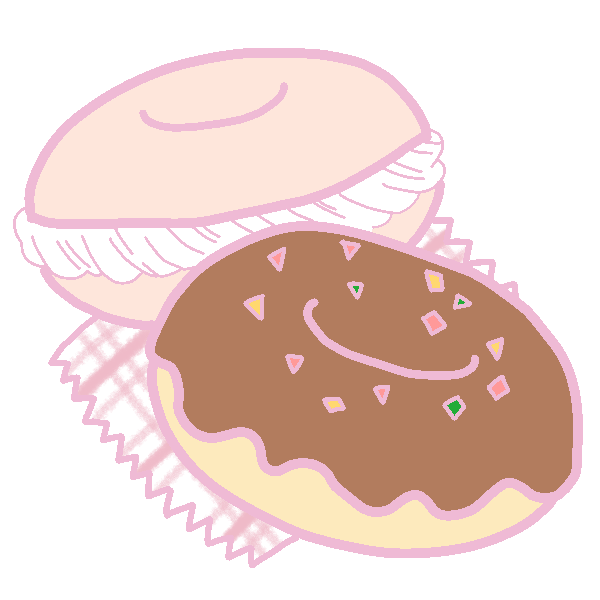 キュートなドーナツのイラスト