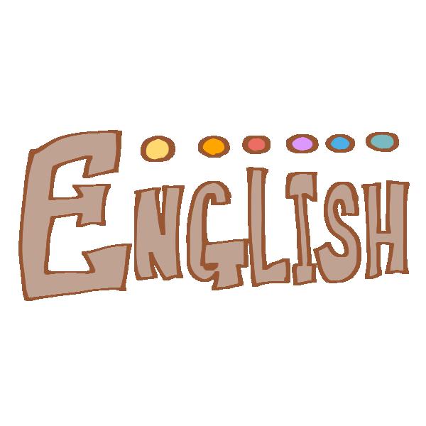 ENGLISHの文字のイラスト