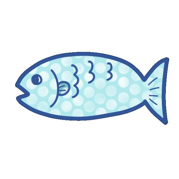 ドット柄の魚のイラスト
