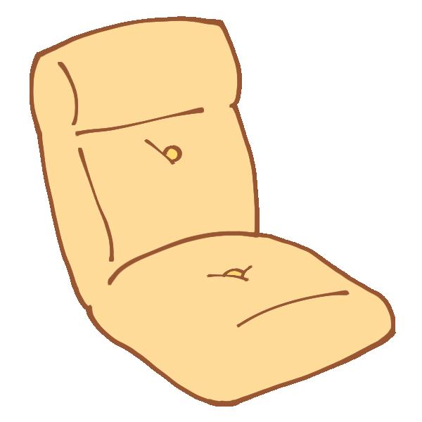 ベージュの座いすのイラスト