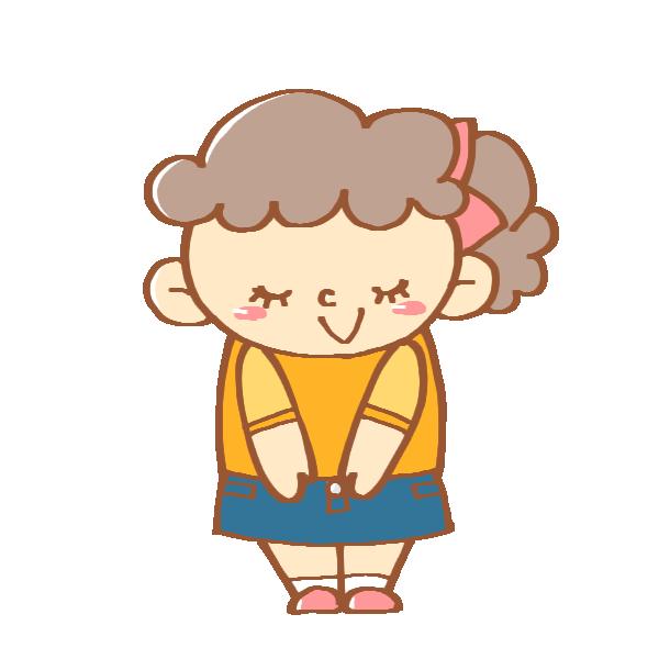 挨拶をする女の子のイラスト