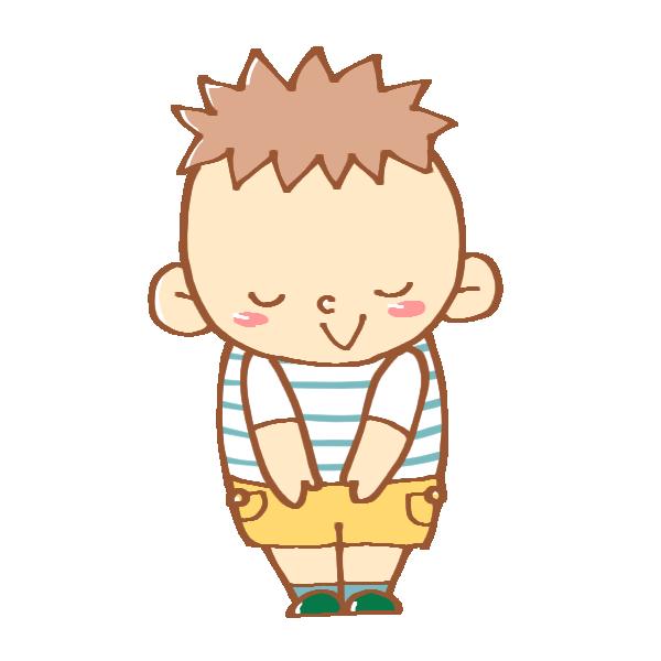 挨拶をする男の子のイラスト
